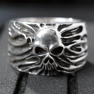 リング 指輪 メンズ Guillaume ギローム シルバー フリーダムスカル2 送料無料 髑髏ドクロ骸骨 Gu-R-002
