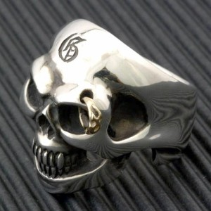 Guillaume ギローム シルバー リング 指輪 メンズ ゴールデンアイトライバルスカル 髑髏・ドクロ・骸 Gu-R-003T