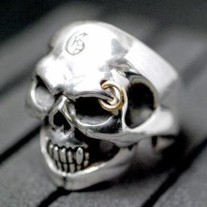 Guillaume ギローム シルバー リング 指輪 メンズ ゴールデンアイスカル 髑髏・ドクロ・骸骨 Gu-R-003