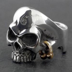 Guillaume ギローム シルバー リング 指輪 メンズ ゴールデンアイスカル 髑髏・ドクロ・骸骨 Gu-R-007G