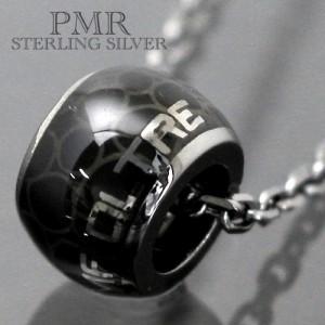 PMR OLTRE ピーエムアールオルトレ シルバー ネックレス メンズ レディース ブラッククロコダイル OLP010BK-Bk