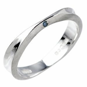 リング 指輪 レディース メンズ waCca ワッカ シルバー ブルーダイヤモンド PCWR047BD