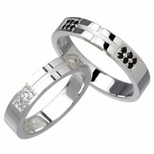 リング 指輪 ペアー waCca ワッカ シルバー キュービックジルコニア PNKR039-P