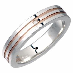 リング 指輪 レディース メンズ waCca ワッカ シルバー 2色ダイヤモンド PNKR44