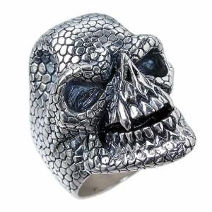 DICKY & GRANDMASTER シルバー リング 指輪 メンズ スネークマンスカル 髑髏ドクロ骸骨 ディッキー&グランドマスター PNSR-S