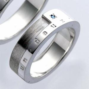 waCca ワッカ シルバー リング 指輪 レディース メンズ ブルーダイヤモンド PR071BD