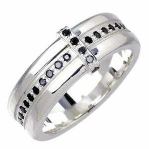 リング 指輪 メンズ レディース tip チップ シルバー ブラック キュービックジルコニア クロス TPJR001BKCZ