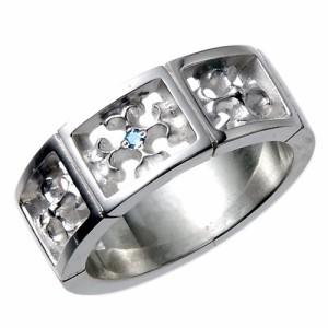 tip チップ シルバー リング 指輪 レディース メンズ ブルーダイヤモンド TPRW014BD