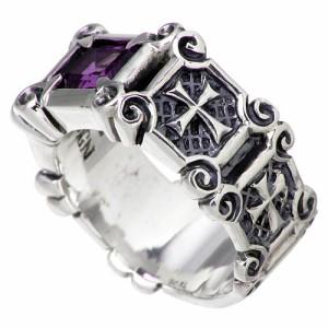 DEAL DESIGN ディールデザイン シルバー リング 指輪 メンズ レディース ヘブンズキャッスル 7月 誕生石 390857