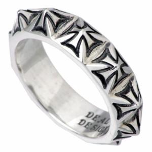 DEAL DESIGN ディールデザイン シルバー リング 指輪 メンズ レディース クロススタッズ 390907