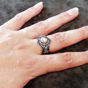 DICKY & GRANDMASTER シルバー リング 指輪 メンズ アプロ ストーンカスタムsv指 9月 誕生石 ディッキー&グランドマスターDR-05-ST
