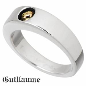 Guillaume ギローム シルバー リング 指輪 メンズ レディース スカルエンブレム 送料無料 髑髏ドクロ骸骨 Gu-R-005G