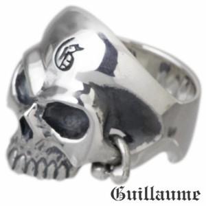 Guillaume ギローム シルバー リング 指輪 メンズ ゴールデンアイスカル 髑髏・ドクロ・骸骨 Gu-R-007