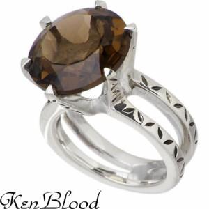 KEN BLOOD ケンブラッド シルバー リング 指輪 メンズ レディース ビッグストーン KB-KR-112