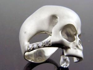 リング 指輪 メンズ レディース KEN BLOOD ケンブラッド シルバー キュービックジルコニア スカル 髑髏ドクロ骸骨 KB-KR-192