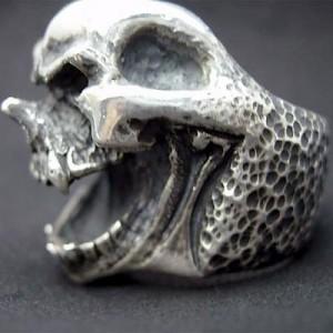 リング 指輪 メンズ DICKY & GRANDMASTER シルバー Lピックノーズスカル L髑髏ドクロ骸骨 ディッキー&グランドマスター LPNSR-01