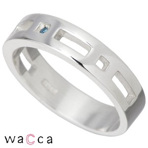 リング 指輪 レディース メンズ waCca ワッカ シルバー ブルーダイヤモンド PCWR022BD