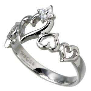 waCca ワッカ シルバー リング 指輪 レディース メンズ オープンハート ロジウム PNKR024RH