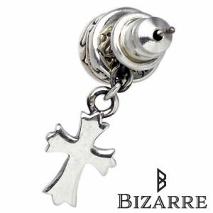 Bizarre ビザール シルバー ピアス メンズ レディース ヴァニティクロス クリアキュービック1個売り片耳用 SPJ017