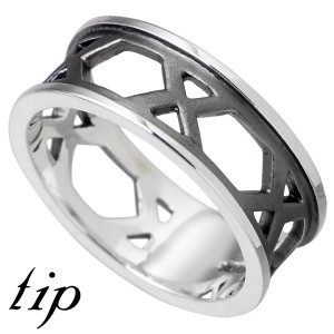 リング 指輪 メンズ レディース tip チップ シルバー TPRW030BK