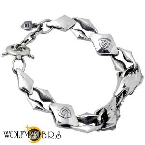 WOLFMAN B.R.S ウルフマン シルバー ブレスレット メンズ ウォーウルフダブルヘッド WO- BR-063