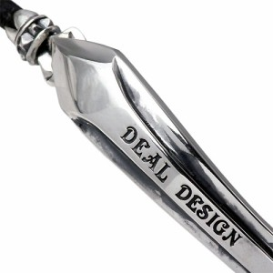 DEAL DESIGN ディールデザイン シルバー ブレスレット メンズ ストレンジレザーバングルレザー 390665