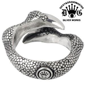 DICKY & GRANDMASTER シルバー リング 指輪 メンズ ダブルクロー ディッキー&グランドマスター DGR003