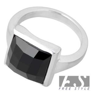 FREE STYLE フリースタイル シルバー リング 指輪 レディース カットオニキス FSR-632