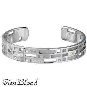 KEN BLOOD ケンブラッド シルバー ブレスレット メンズ メッセージ バングル ot KB-KP-141