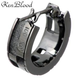 【送料無料】KEN BLOOD ケンブラッド シルバー ピアス メンズ レディース ダイヤモンドメッセージ 1個売り片耳用 KB-KP-59
