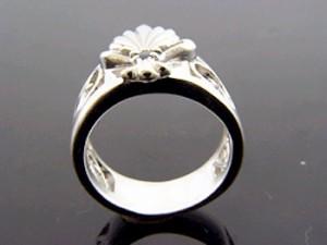 KEN BLOOD ケンブラッド シルバー リング 指輪 メンズ レディース リーフ キュービックジルコニア KB-KR-154