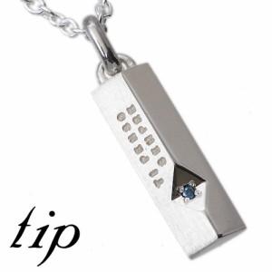 tip チップ シルバー ペンダントトップ レディース メンズ ブルーダイヤモンド TPNW16BD