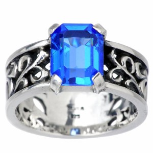 WOLFMAN B.R.S ウルフマン シルバー リング 指輪 メンズ パルメットウォーター W WO-R-058 9月 誕生石