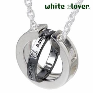white clover ホワイトクローバー シルバー ネックレス ペアー set WSPD160-161-P