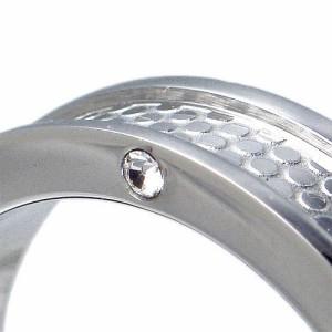 ステンレス 4ストーンリング アレルギーフリー 医療用サージカル(316L) 指輪 RSCL03【即納】