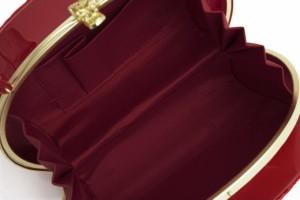 【成人式の振袖におすすめなバッグ】赤/レッド/キルティング調/型押し/リボン/エナメル/和洋兼用/日本製/送料無料