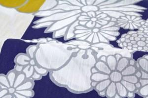 【POP可愛いブランド「SOU・SOU(ソウソウ)」レディース浴衣】白/ホワイト/桜/菊/花柄/仕立て上がり/夏祭り/送料無料