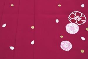 【卒業式や十三詣りのお祝いに☆ブランド夢千代の袴】赤紫/桜/花/刺繍/はかま/11歳/12歳/13歳/女の子/ハイジュニア/送料無料
