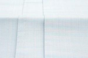 【訳あり特価☆カジュアル向け半幅帯】薄水色/ライトブルー/カラー/花/正絹/手織り/夏向け/細帯/半巾帯/仕立て上がり