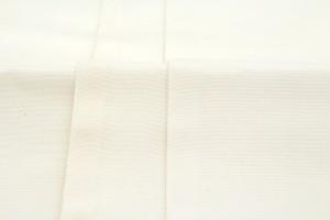 【訳あり特価☆カジュアル向け半幅帯】白系/アイボリー/三毛猫/ネコ/座布団/正絹/手織り/夏向け/細帯/半巾帯/仕立て上がり