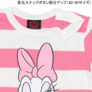 9/11NEW♪ディズニー_ボーダーロンT-ベビーサイズ キッズ ベビードール 子供服/DISNEY-9925K