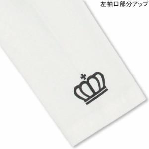 9/11NEW♪ディズニー 親子ペア★斜め王冠ロンT-ベビーサイズ キッズ ベビードール 子供服/DISNEY-9927K