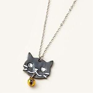 鈴つき黒ネコのネックレス