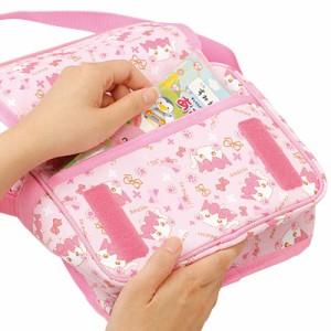ピンクもこもこネコ耳ほっぺちゃん柄ショルダーバッグ