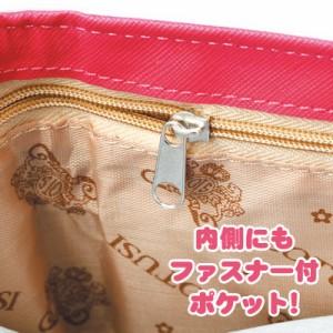 黒/ネコぶらさがりデザイン三つ折り財布