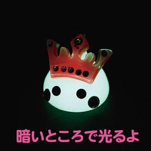 夜光白/ピンク王冠デカほっぺちゃんオブジェ