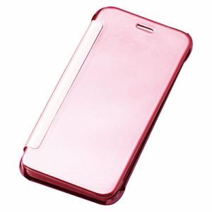 ピンク/画面が見えるiPhone7用カバー