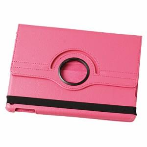 ピンク/スタンド機能つきiPadケース