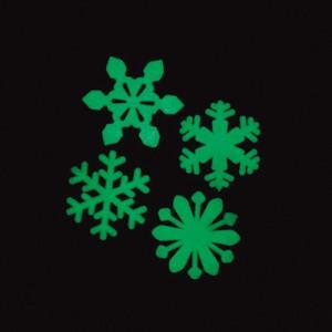 ホワイト/雪の結晶夜光プレート50個セット