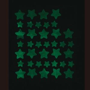 夜光/大小星がいっぱいシール